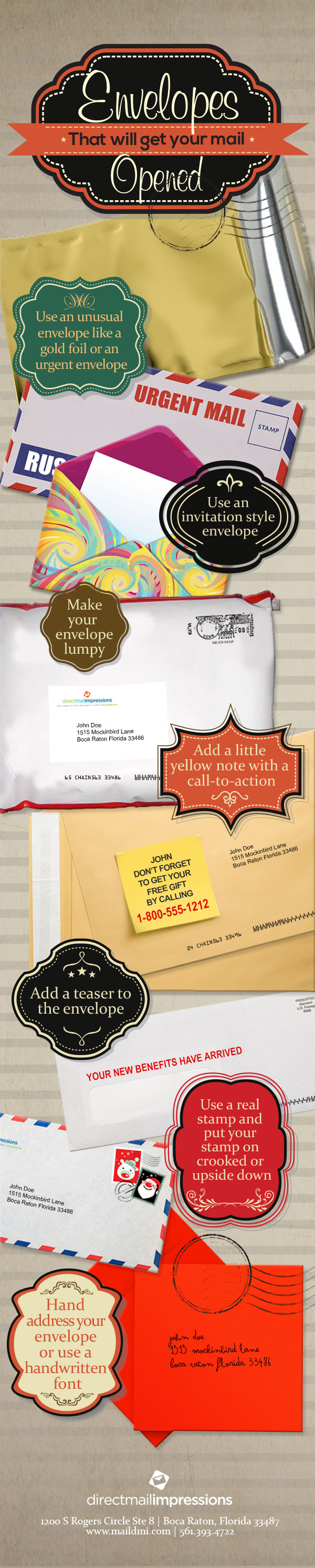 Envelopes that will get your mail opened